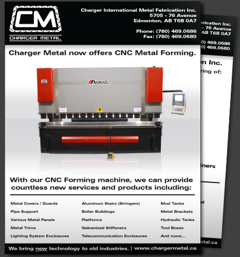 Print, Illustration, Photo Manipulation: CNC Metal Forming (Front)