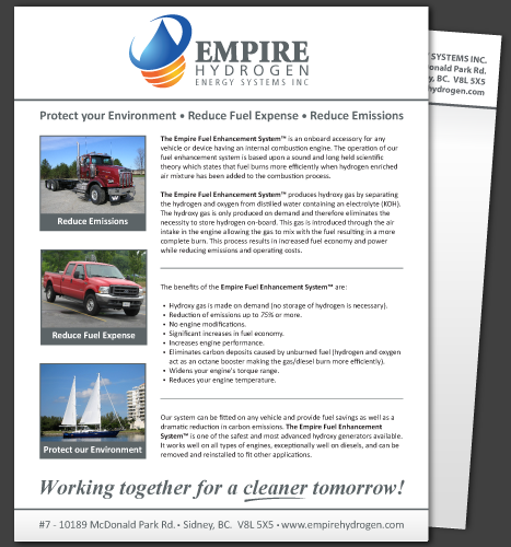 Print, Illustration: Empire Hydrogen Flyer