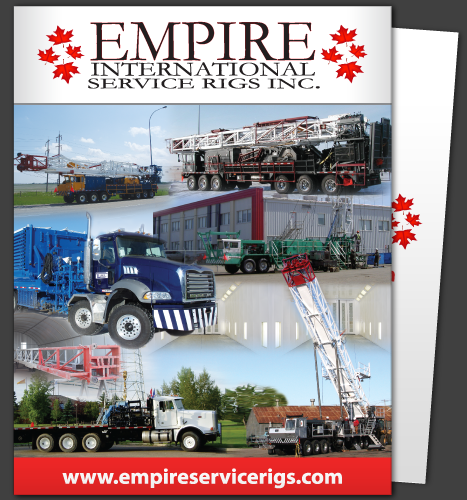 Print, Illustration: Empire Service Rigs Inc. Sales Folder (Front)
