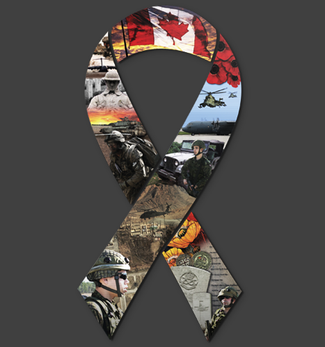 Print, Illustration: Support The Troops Ribbon