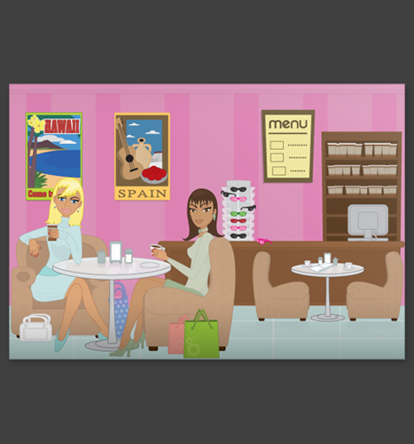 Vector Illustration: Luscious Bags Coffee Shop Illustration
