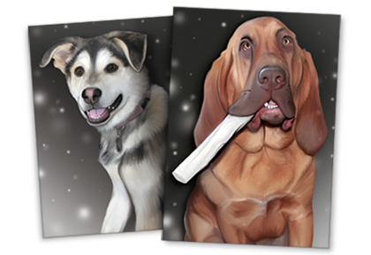Digital Pet Paintings | Digital paintings done using photographs of your own pet.
