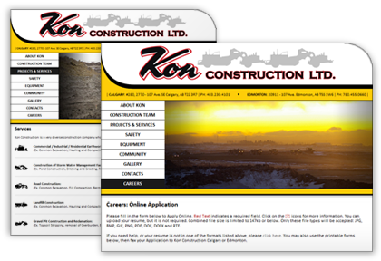 Kon Construction | Web Design, Brochure & Presentation Booklet.