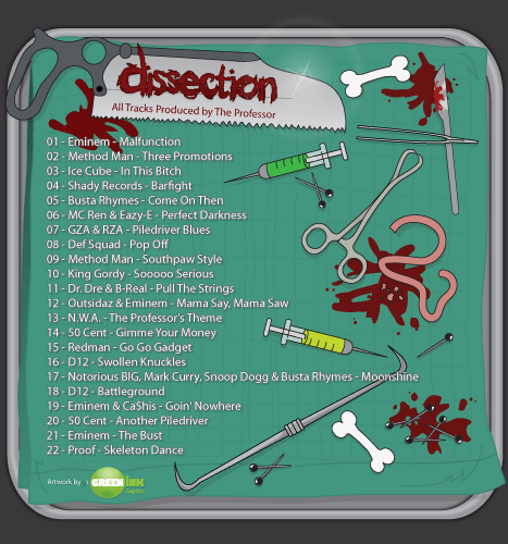 Print, Illustration: The Professor Presents...Dissection Album Cover (Back)