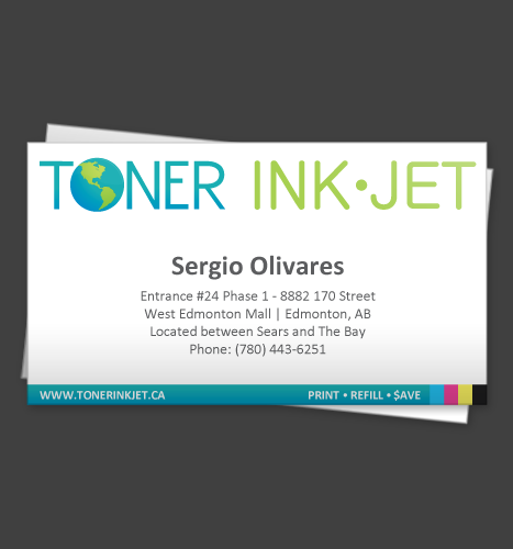 Print, Illustration, Photo Manipulation: Toner Ink Jet Business Cards (Front)