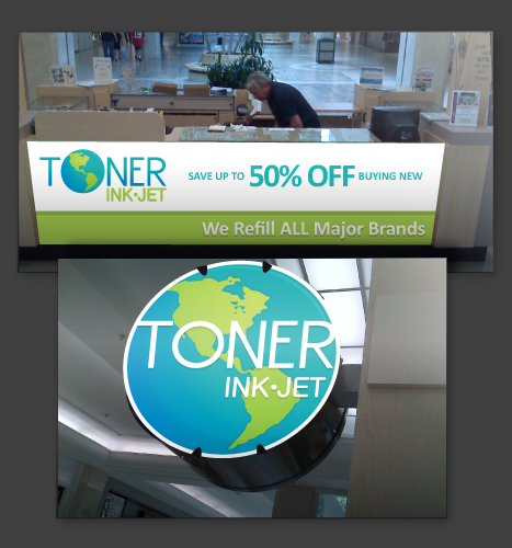 Illustration, Photography, Photo Manipulation: Toner Ink Jet Signage Mockups