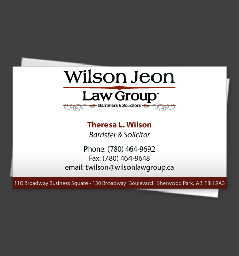 Illustration & Print: Wilson Jeon Law Group Business Card